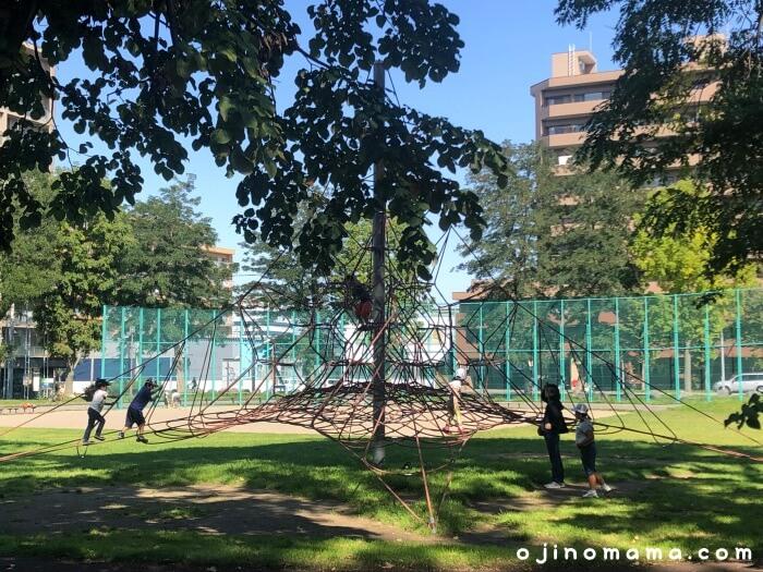 白石区東札幌公園ロープジャングルジム