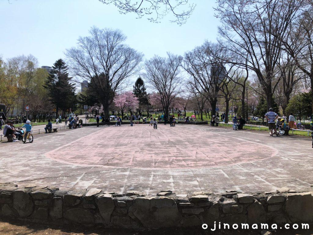 札幌市農試公園自転車練習