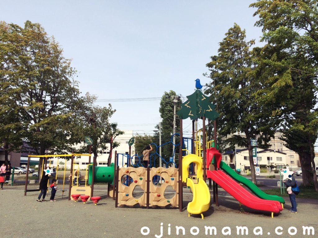 札幌市白石区もつき公園コンビ遊具2