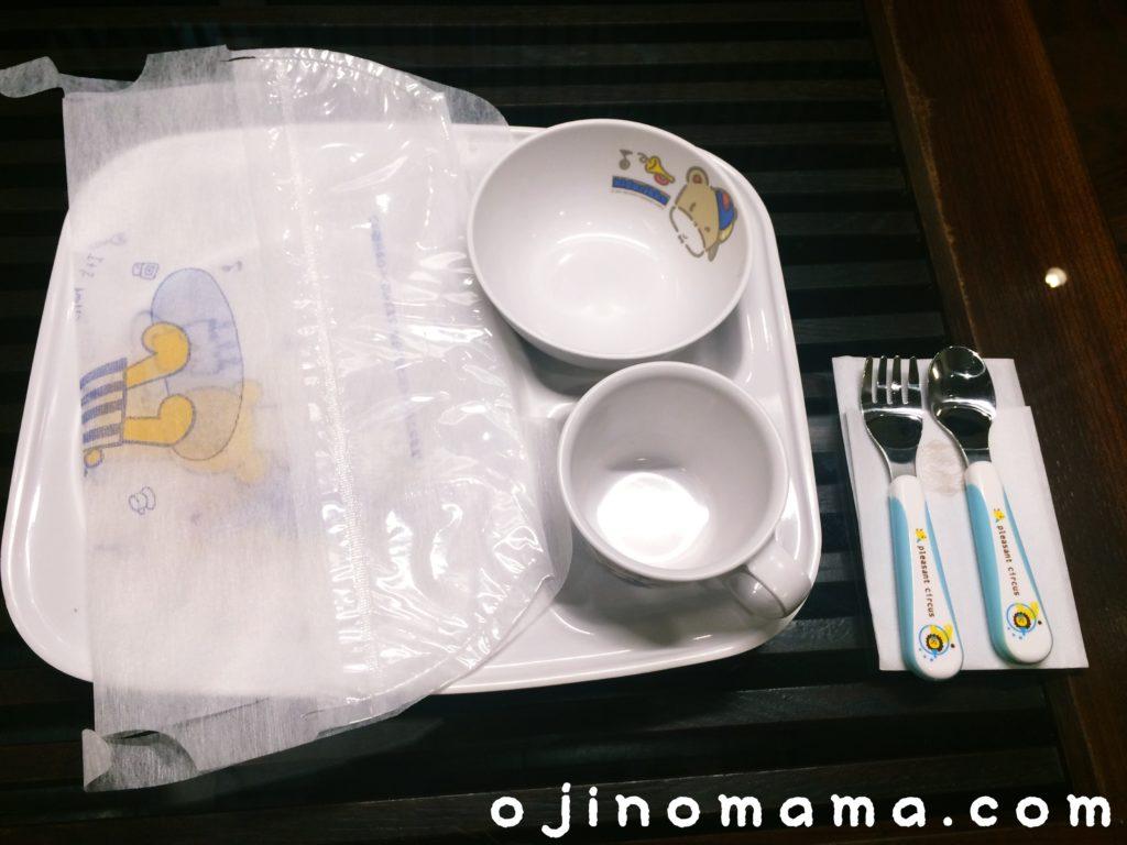 札幌子連れランチ鶴雅ビュッフェダイニング子供用食器