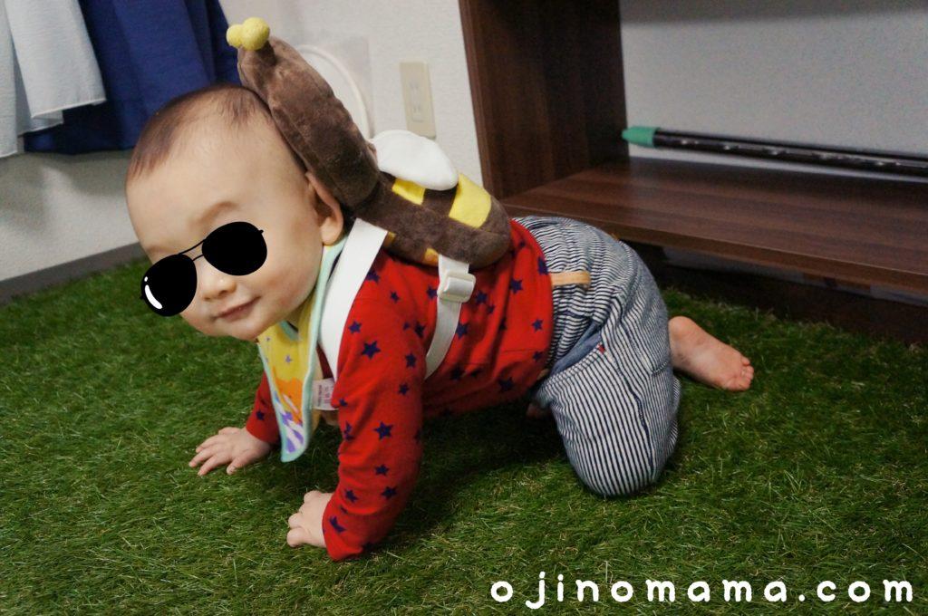 赤ちゃん頭ガードリュック1