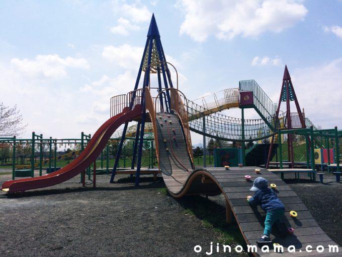 札幌市北区屯田公園のコンビ遊具