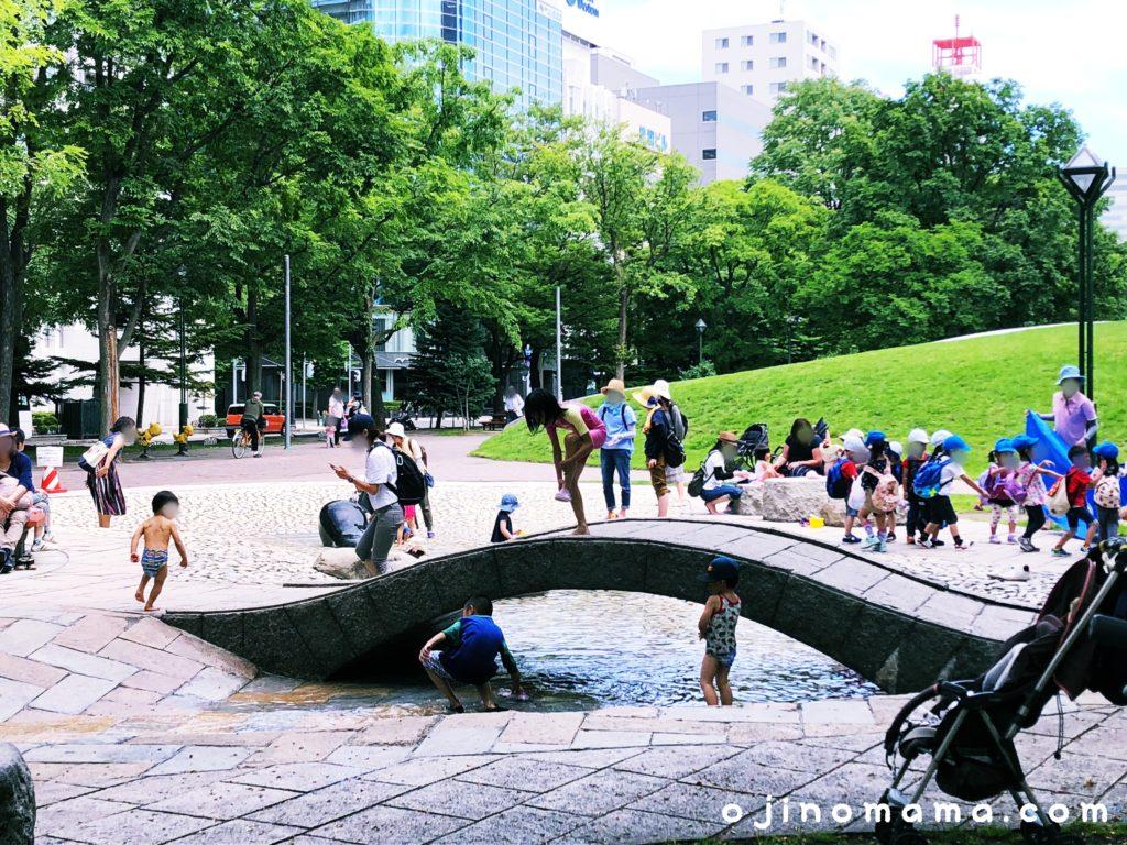 大通公園水遊び場橋