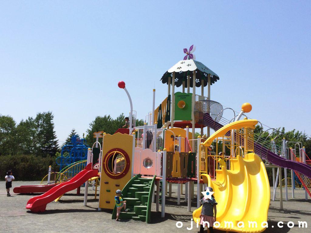 川下公園大型コンビ遊具2