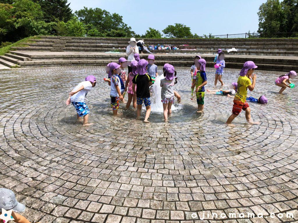 旭山記念公園噴水水吹き出し