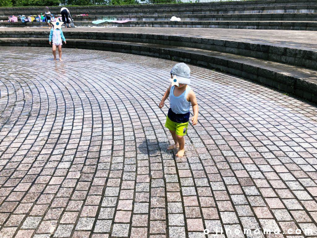 旭山記念公園噴水浅い所