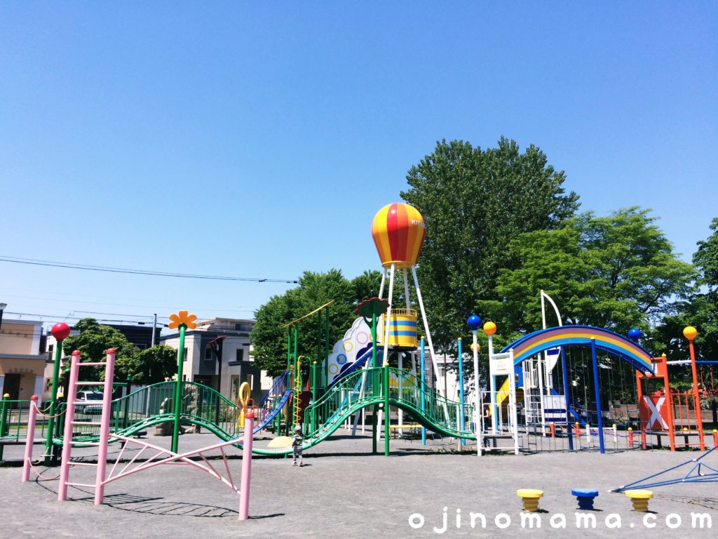 札幌市東区北園公園の大型コンビ遊具全体