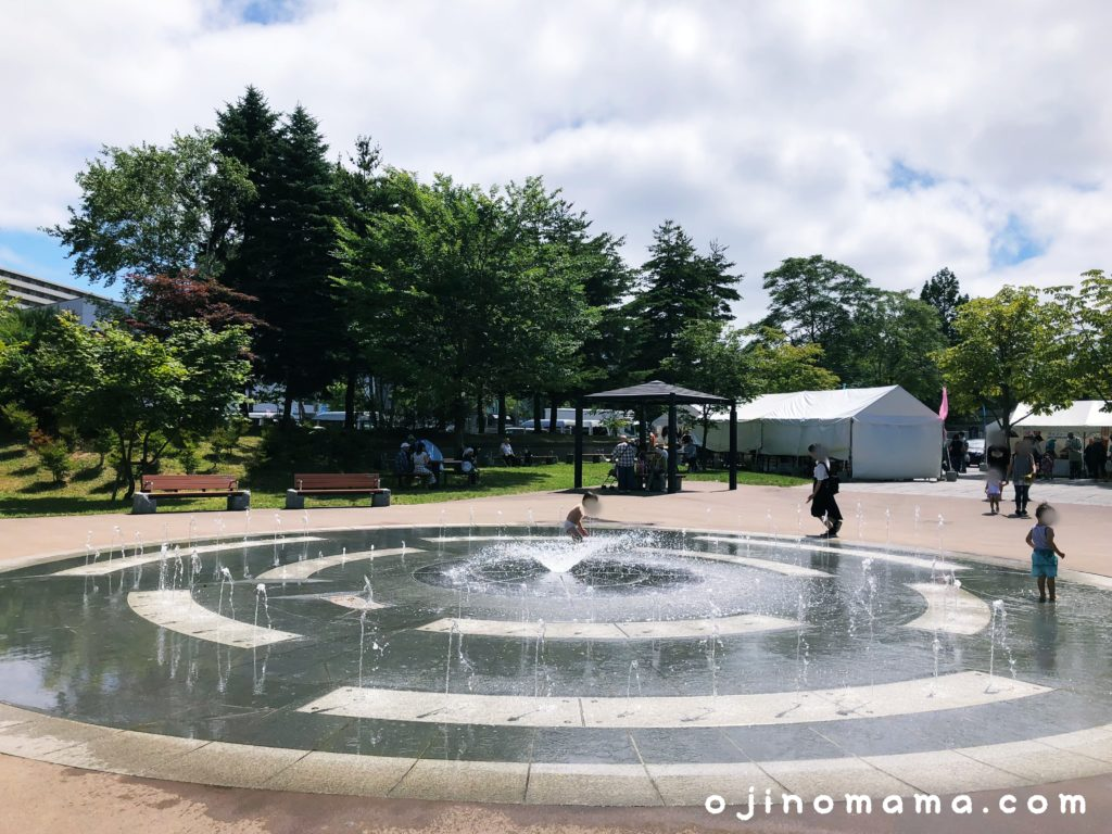 科学館公園噴水で水遊び1