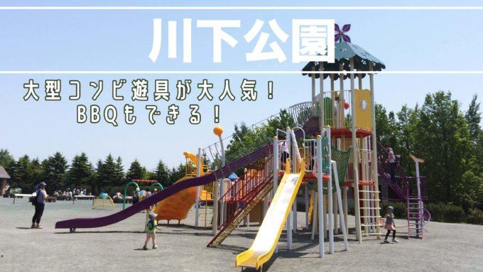 札幌市白石区川下公園の遊具BBQを紹介