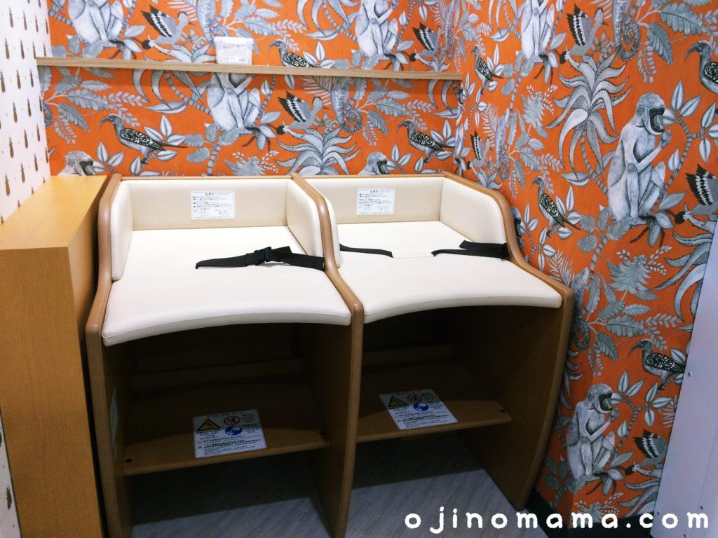 札幌東急ベビー休憩室おむつ交換台