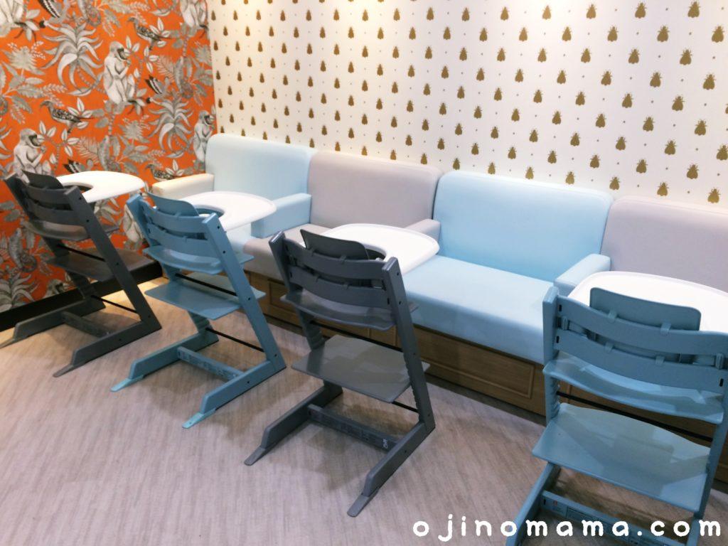 札幌東急ベビー休憩室飲食スペース