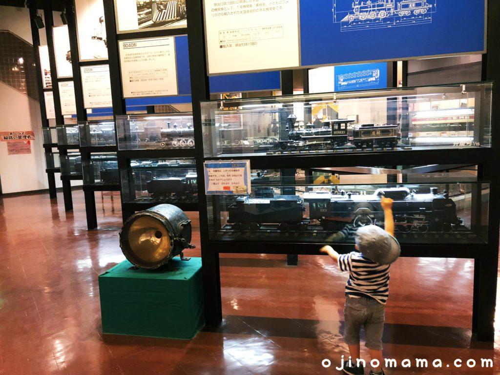 三笠鉄道村鉄道記念館の機関車模型