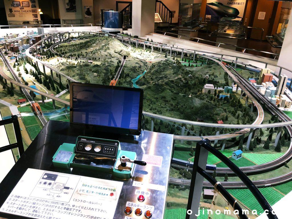 三笠鉄道村鉄道記念館ジオラマ