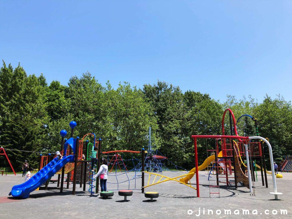 札幌百合が原公園コンビ遊具中2