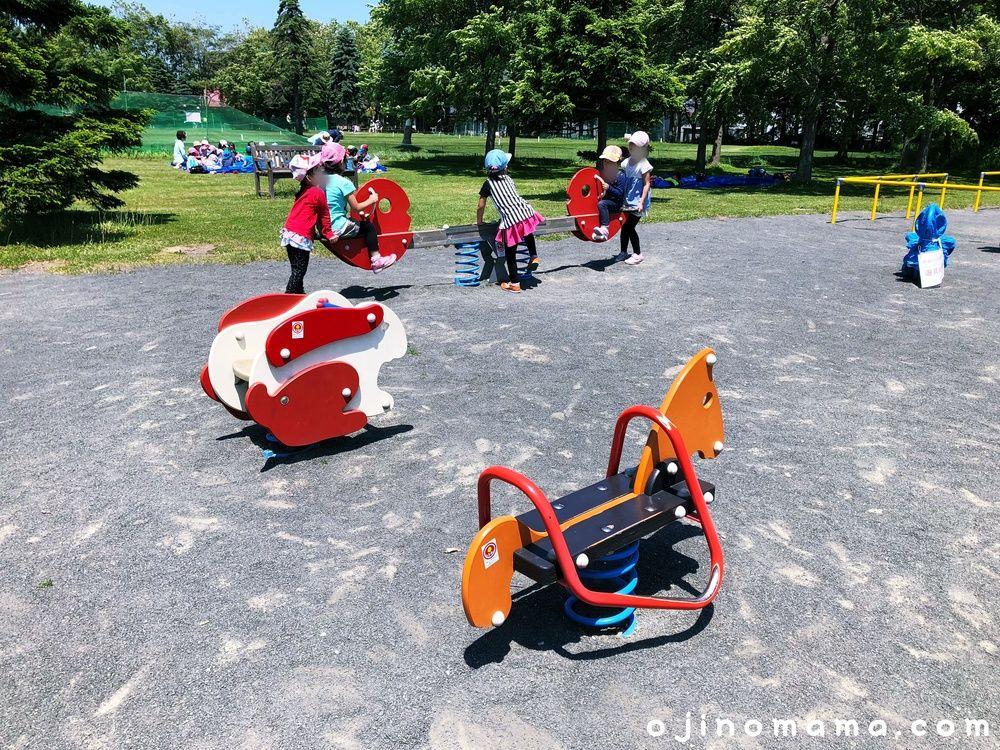 百合が原公園スプリング遊具