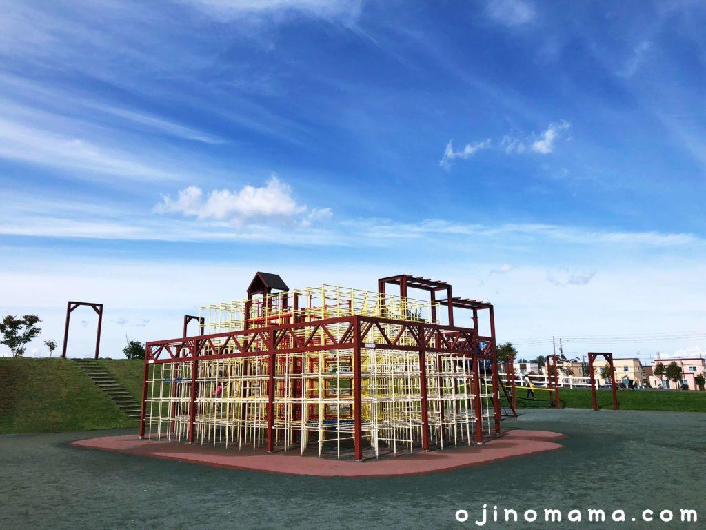 手稲区明日風公園ジャングルジム1