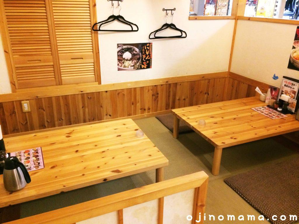 札幌ランチ小上がり席がある手打ちそばさくら