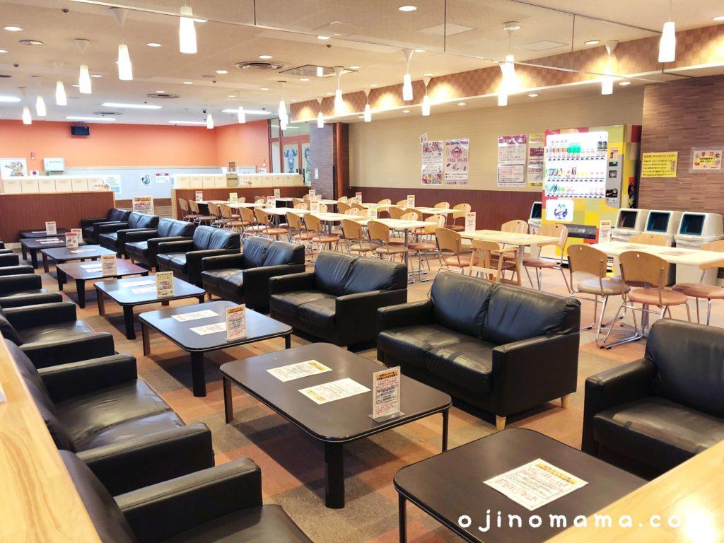 ファンタジーキッズリゾート新さっぽろ飲食スペース