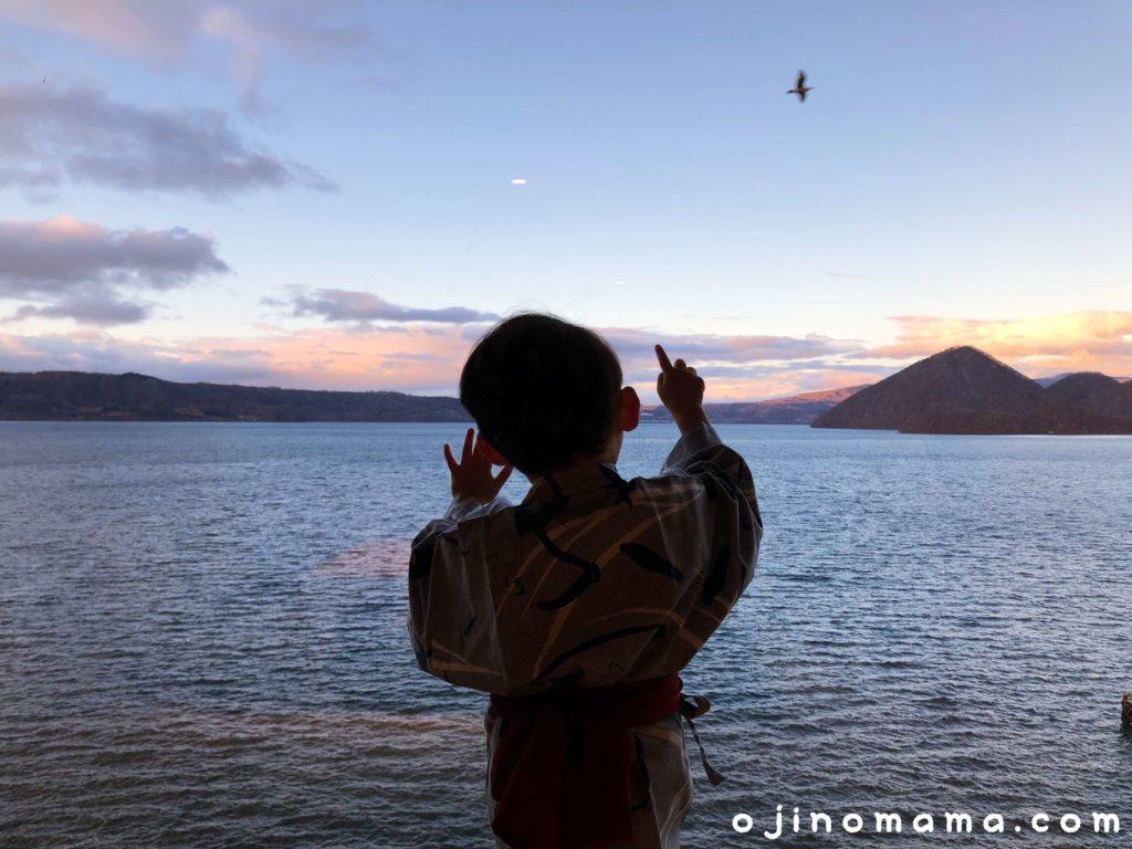 乃の風リゾート客室から洞爺湖と羊蹄山