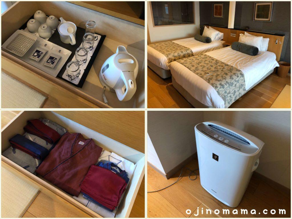 乃の風リゾート客室の設備