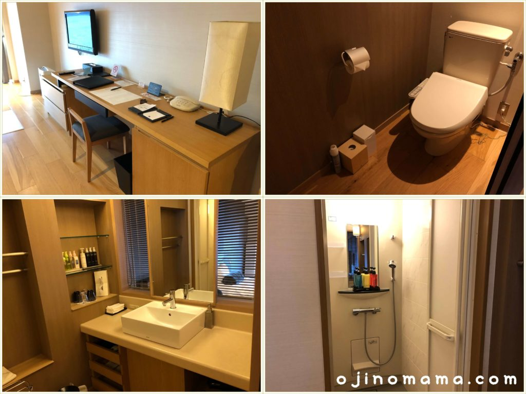 乃の風リゾート客室トイレ洗面台シャワー