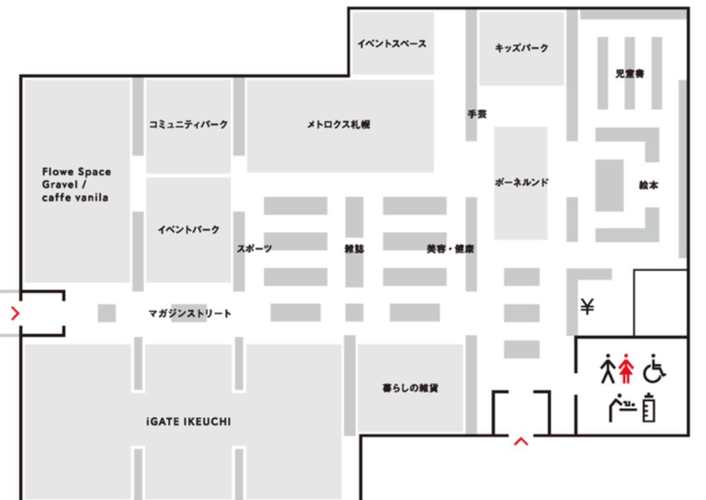 江別蔦屋授乳室おむつ交換台2