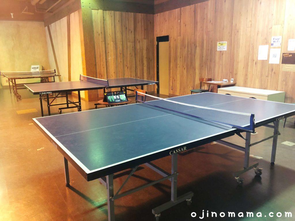 小樽室内遊び場イカロスの城卓球台