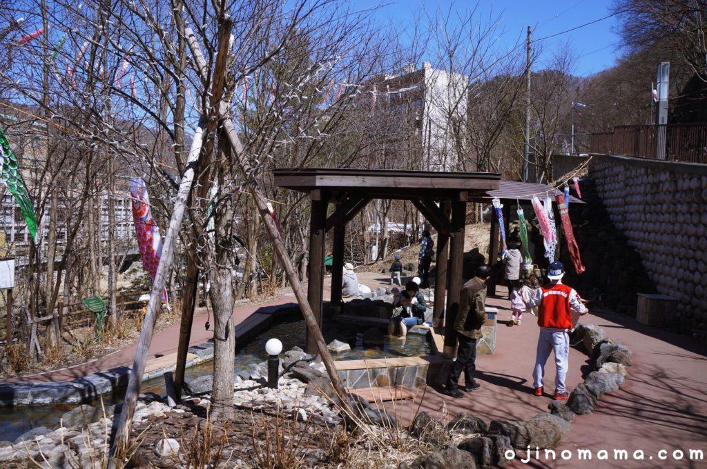 定山源泉公園の足湯
