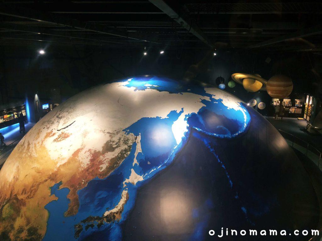 札幌市青少年科学館地球儀
