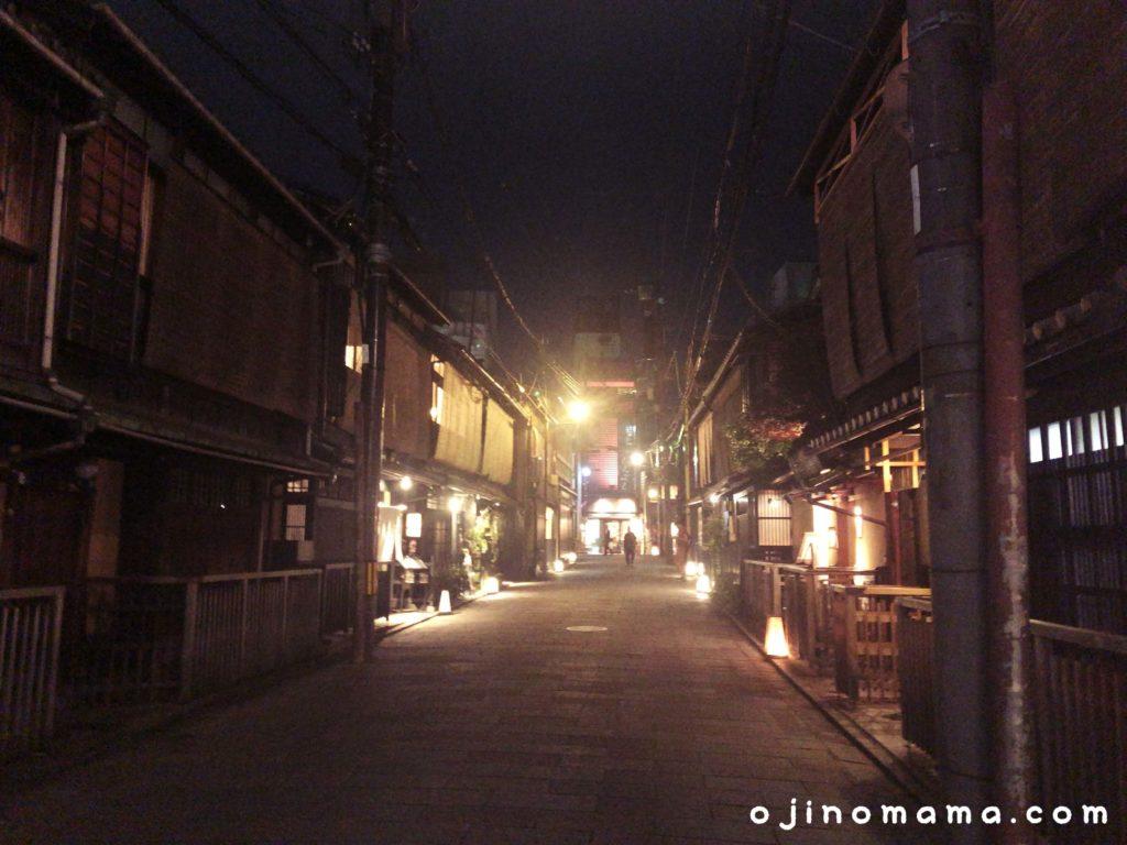 子連れ京都観光夜の祇園1