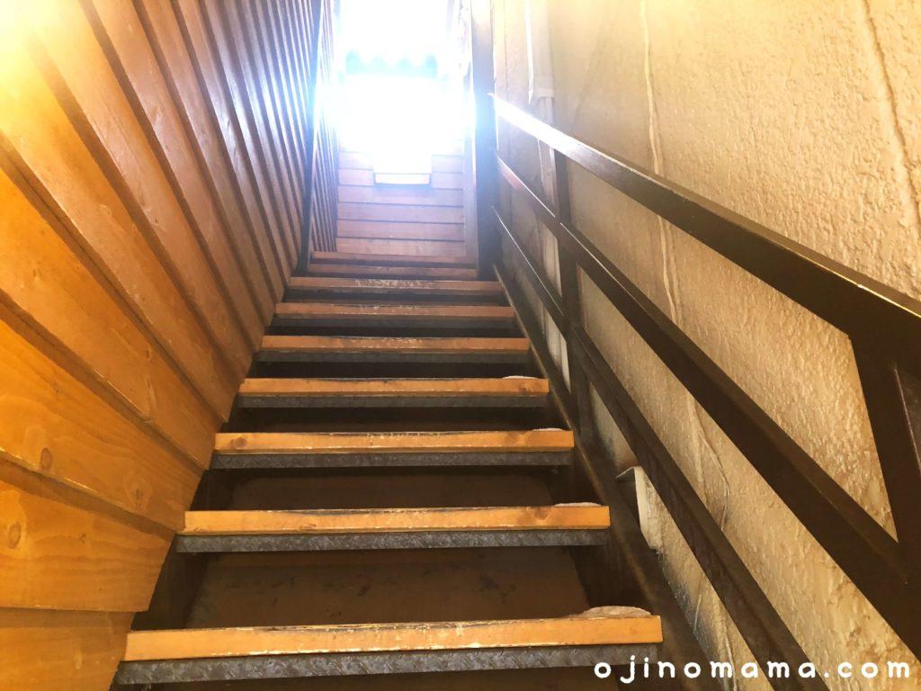 札幌ふわもち邸カフェへの階段