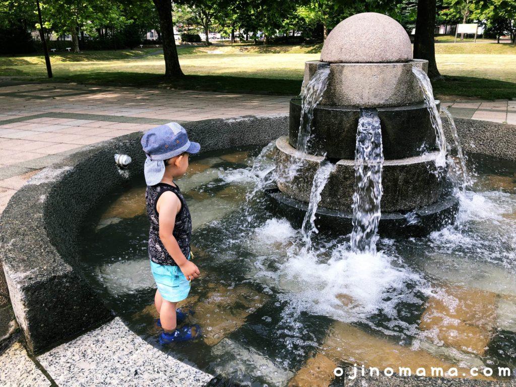 札幌市苗穂グリーン公園水遊び