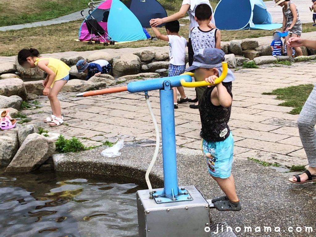 豊平川ウォーターガーデン水鉄砲