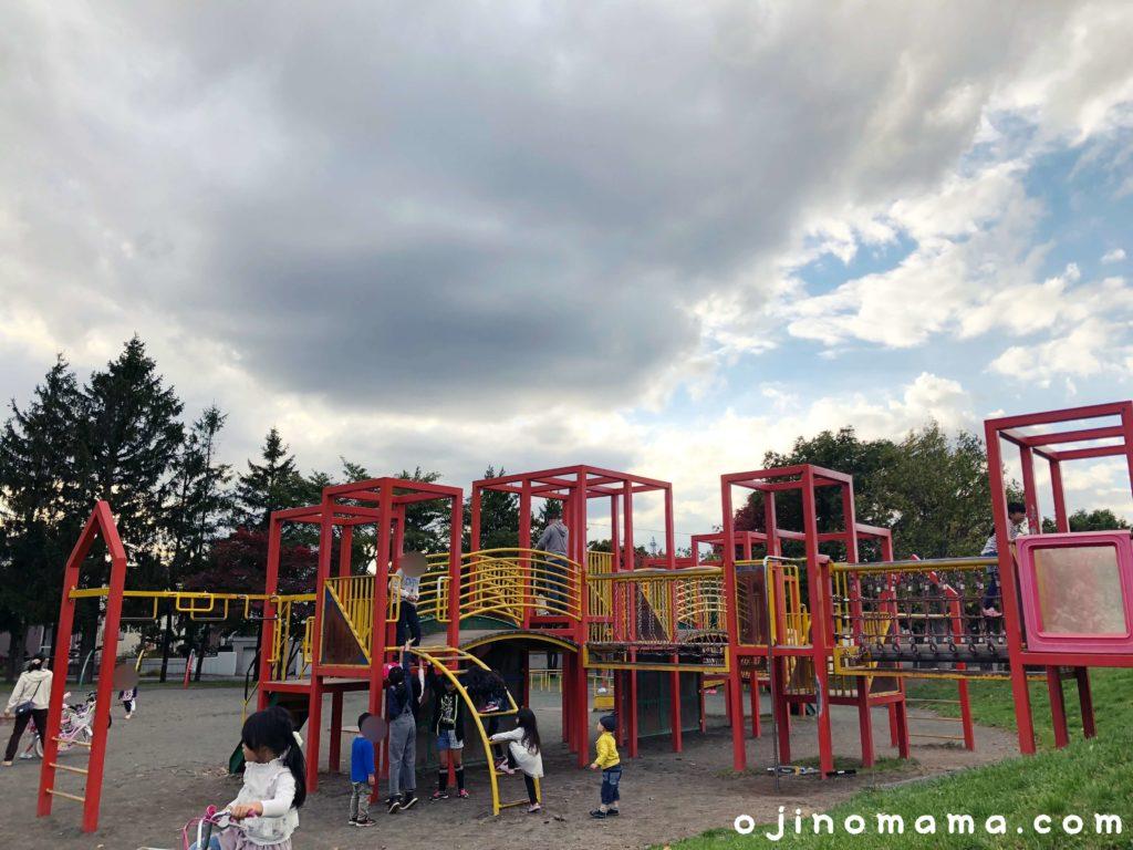 厚別西公園コンビ遊具