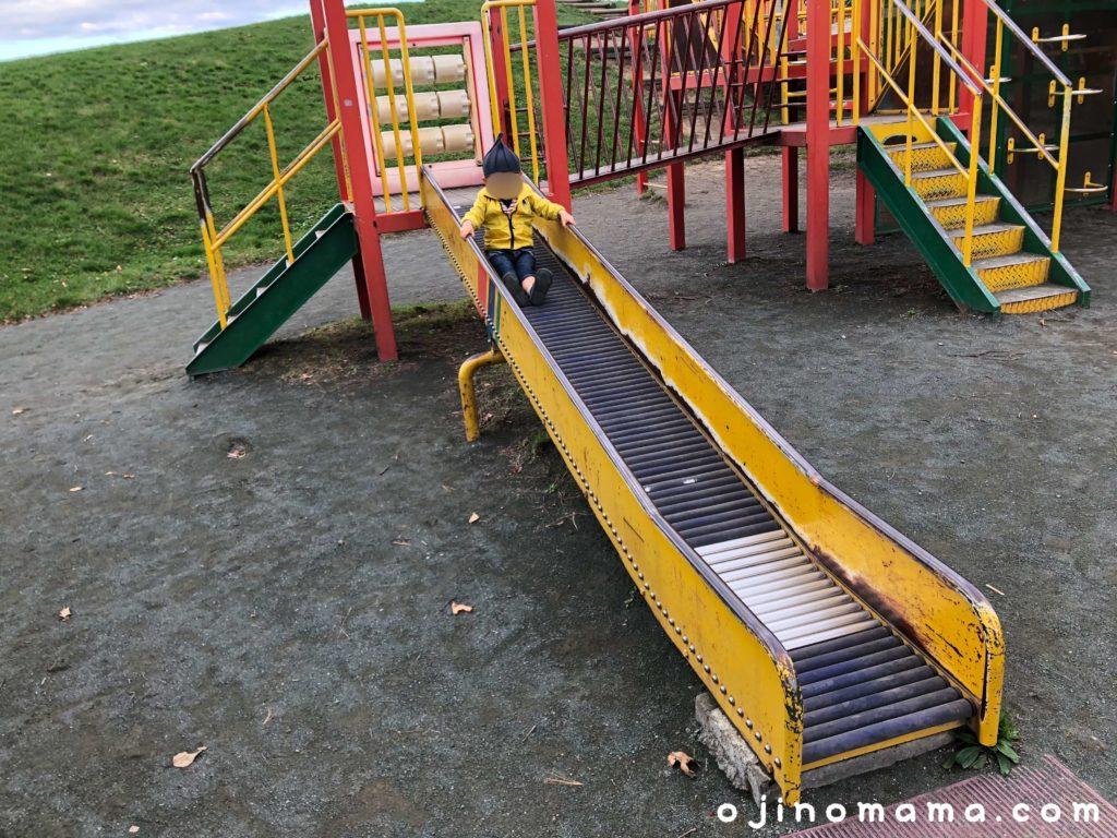 厚別西公園ローラーすべり台