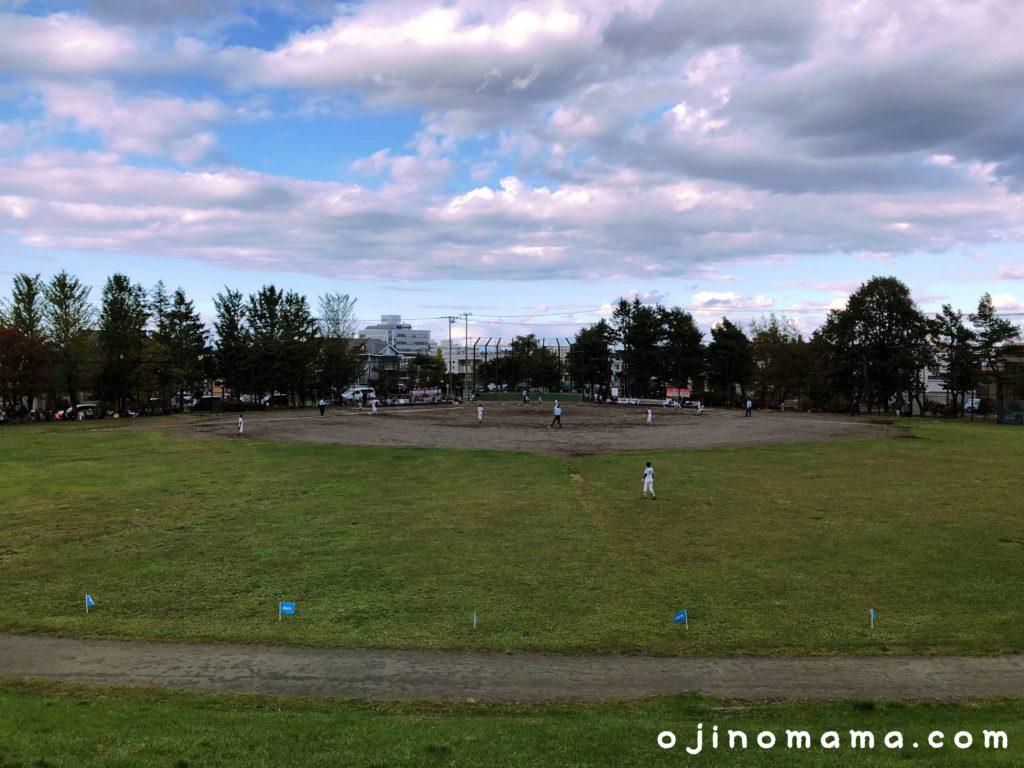 札幌市厚別西公園野球場