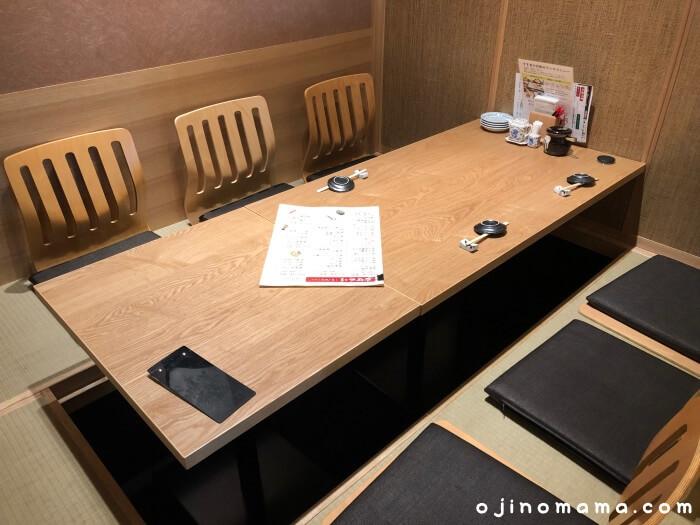札幌市中央区花まるすすきの店小上がり席