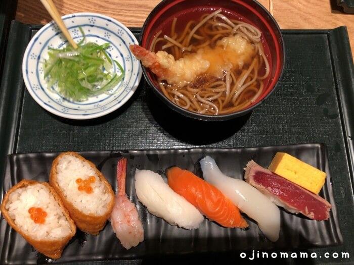 札幌花まる寿司すすきの店そばセット
