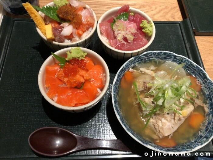 札幌花まる寿司すすきの店まんぷく丼ランチ