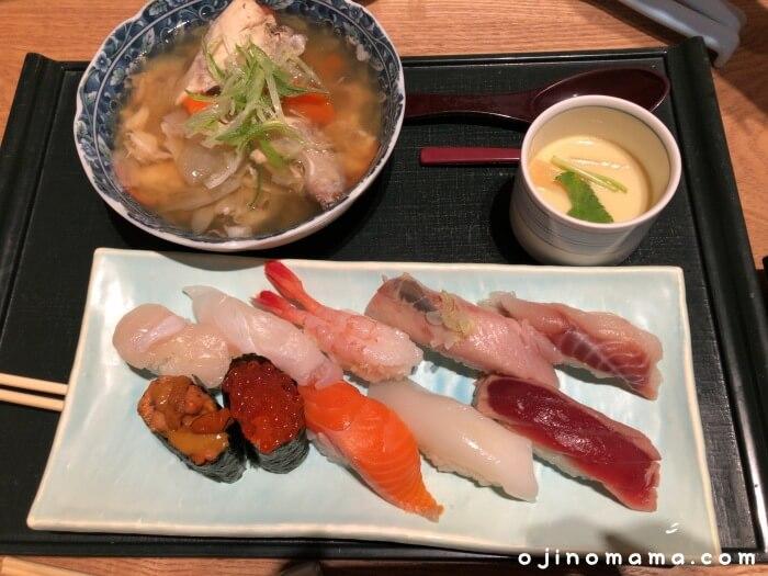 札幌花まる寿司すすきの店ランチセット