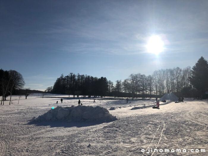 札幌羊ヶ丘展望台雪遊び