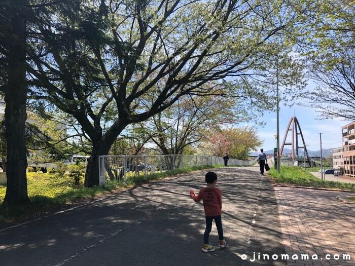 札幌厚別区かげろう公園自転車