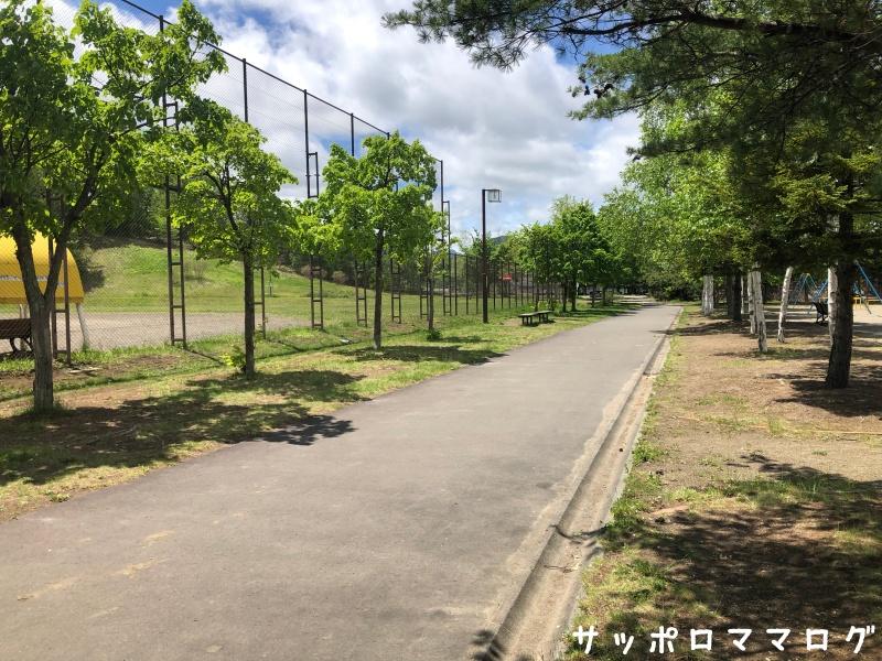 常盤公園内の道