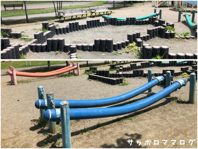 常盤公園砂場と平均台