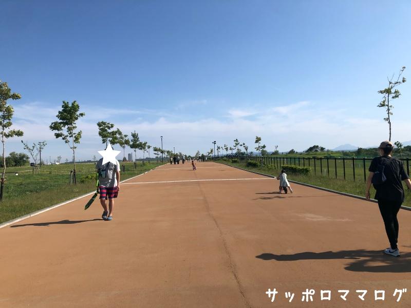 厚別山本公園遊具広場まで